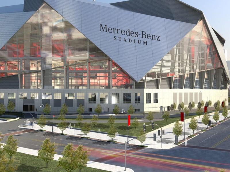atlanta gets super bowl 53 mercedes benz stadium hosts 2019 game midtown ga patch. Black Bedroom Furniture Sets. Home Design Ideas