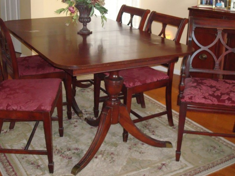 Duncan phyfe furniture the real vs the reproduction for Dining room tables 1940s