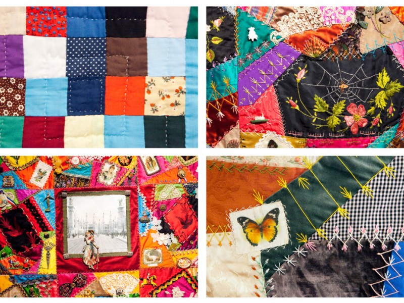 historical society kicks off crazy quilts exhibit