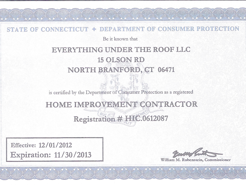 State Of Ct Does Not Require Home Improvement Contractors To Have Knowledge  In Their Trade