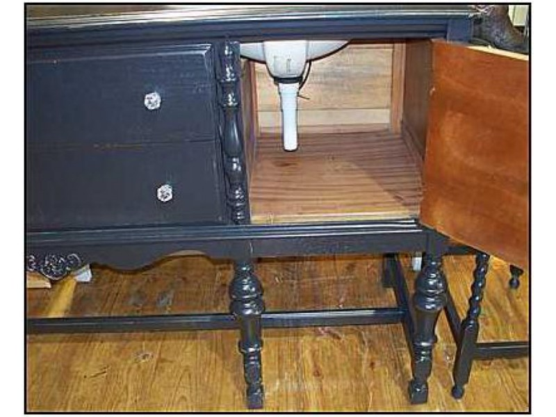 Bathroom Vanities Made From Furniture challenges of using an antique bathroom vanity - troy, mi patch