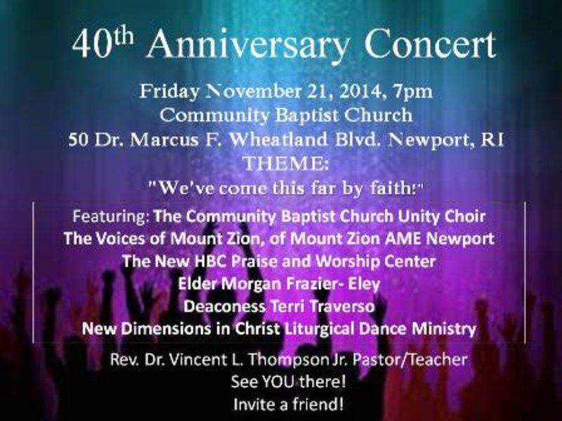 40th Church Anniversary Concert | Newport, RI Patch