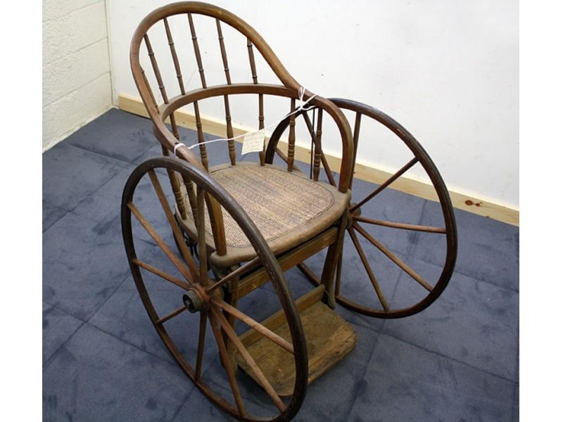 antique of the week historic wicker wheelchair half. Black Bedroom Furniture Sets. Home Design Ideas