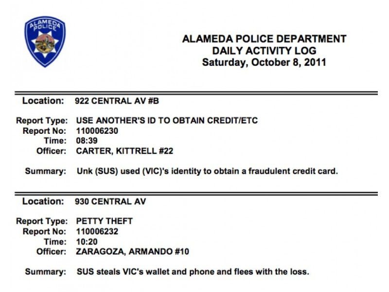 Alameda Police Activity Logs Now Available Online - Alameda, CA Patch