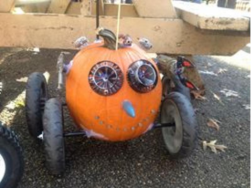 Pumpkin Race Car