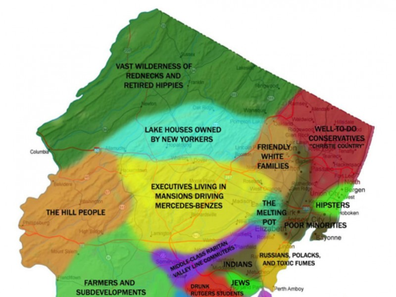 Is This The Most Outrageous New Jersey Map Ever Marlboro NJ Patch - Nj map