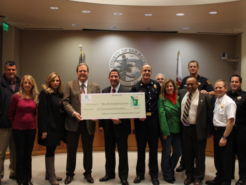 Recology San Mateo County Gives $1K to Local Police Activities Leagues - San Mateo, CA Patch