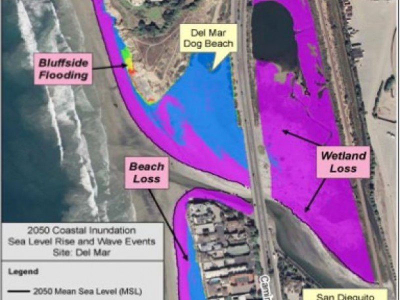 Maps of San Diego Coast Show Sea Level Rise by 2050 | La