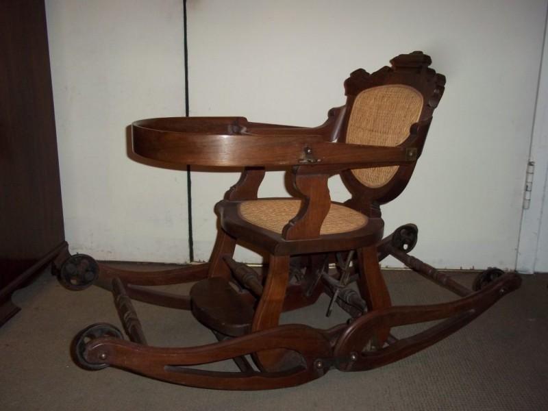 Antique High Chair Rocker Antique Furniture