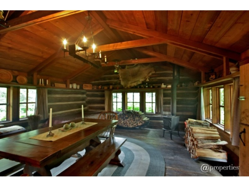 wow house  indoor pool with hot tub  wet bar  log cabin on property