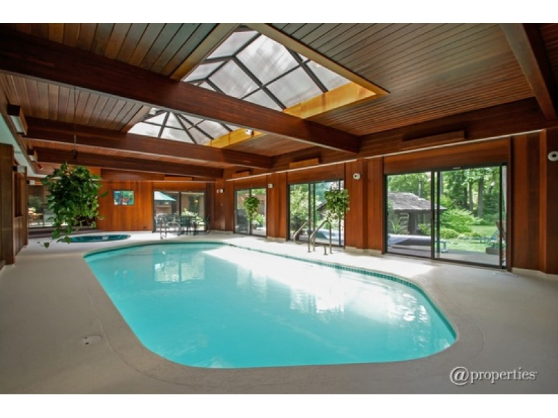Home Indoor Pool wow house: indoor pool with hot tub, wet bar; log cabin on
