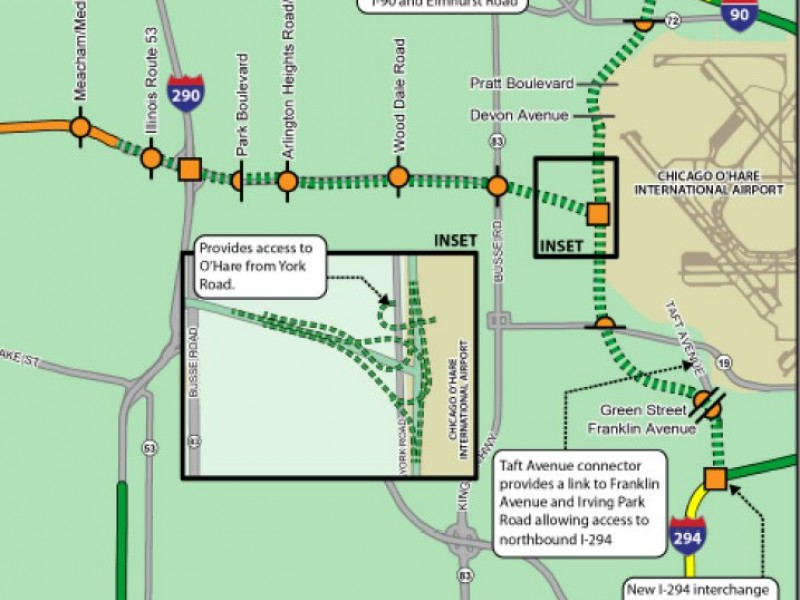 Illinois Tollway Gets Ok For Elgin O Hare Expansion