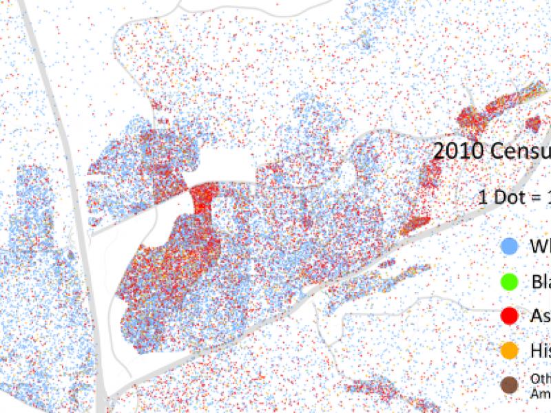 Racial Dot Map Plots Del Mar Carmel Valley S Population