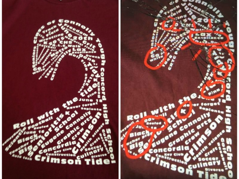 Concord high school senior shirts pulled due to offensive for High school softball shirt designs