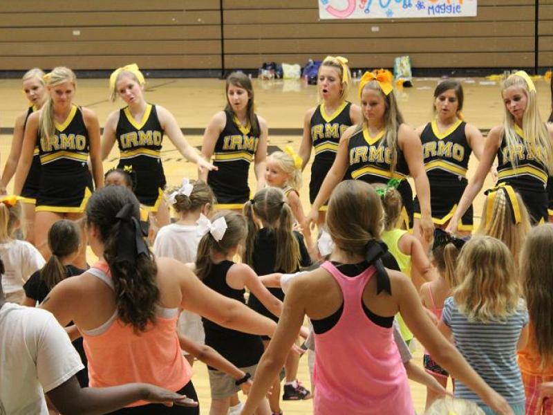 District 5 Cheerleading Teams Hold Little Girls Summer