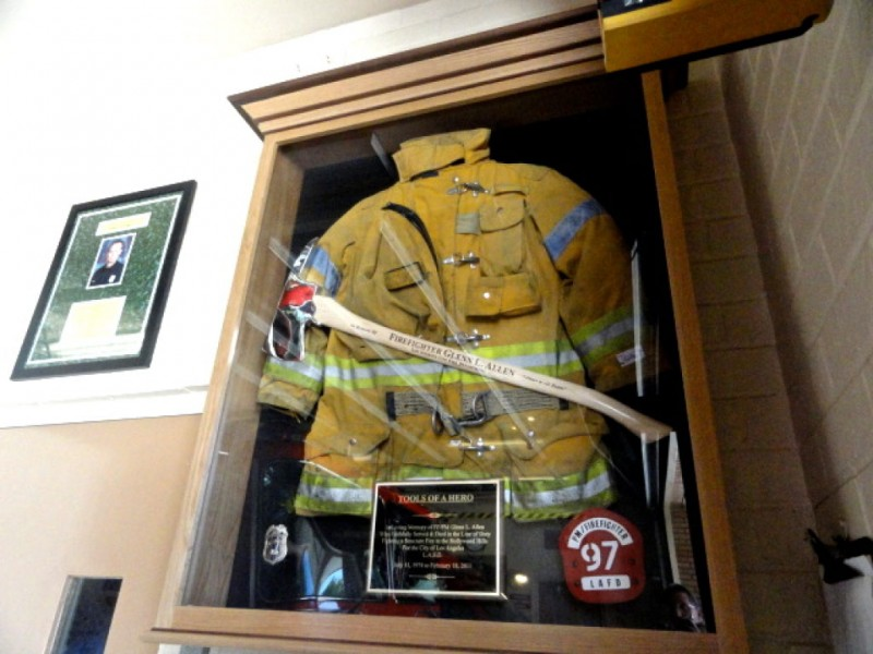Station 97 Dedicates Shadowbox To Fallen Firefighter Glenn
