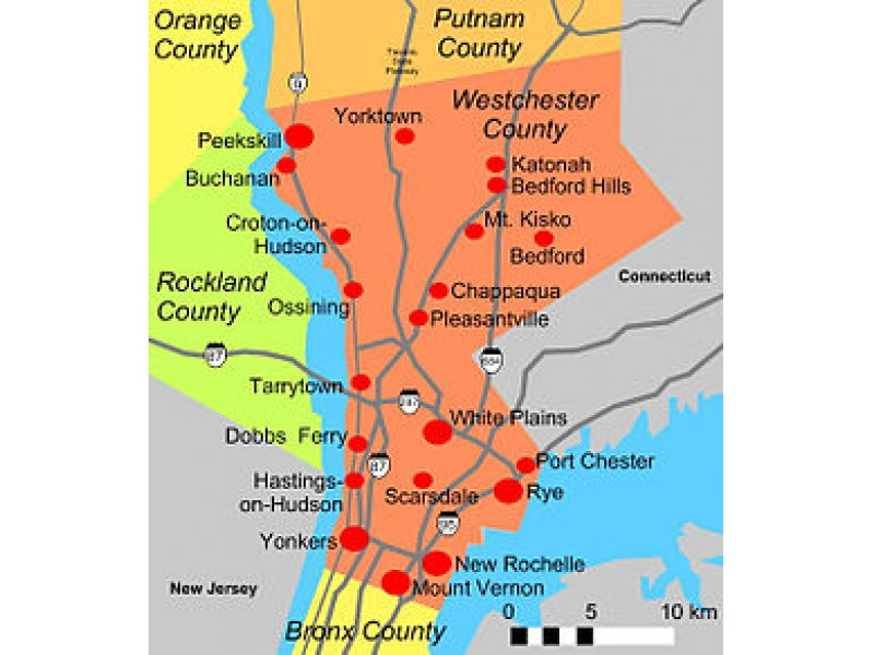 SalesTax Revenue Off By M For Westchester County White - Us counties sales map