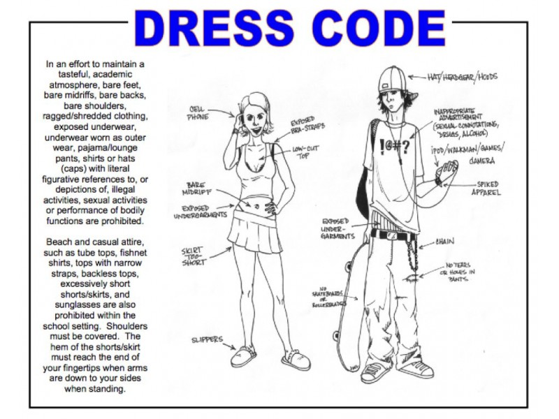 public school dress code essay Comparison and contrast of public and private comparison and contrast of public and private schools step further by adding a strict dress code and a strict.