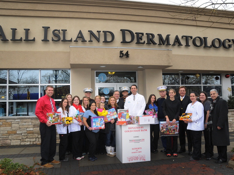 all island dermatology welcomes usmc toys for tots to garden city garden city ny patch