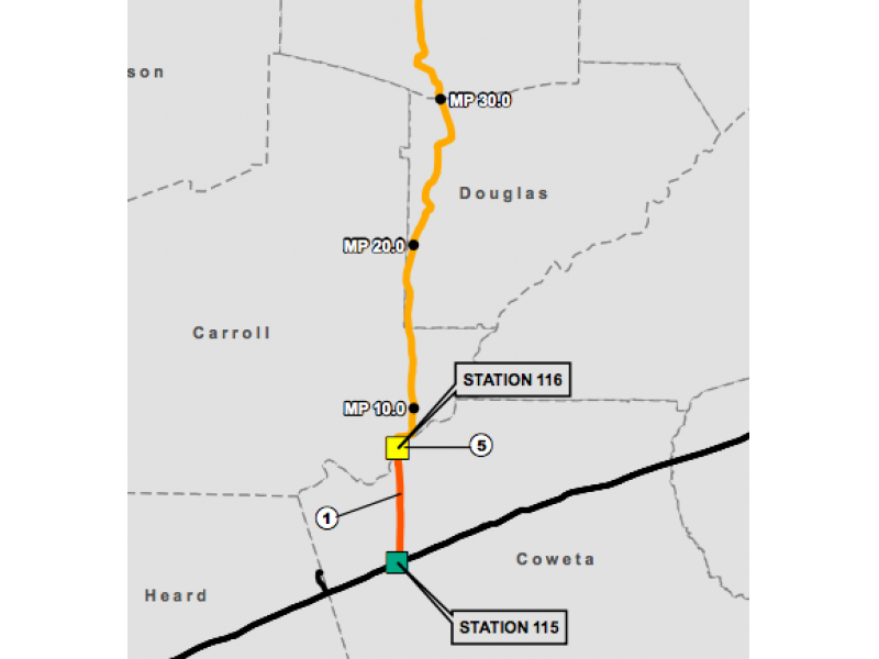 Open House Set On Proposed Natural Gas Pipeline Douglasville GA - Georgia map douglasville