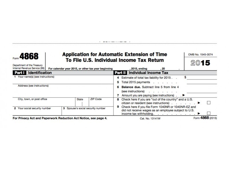IRS Form 4868: Extension For 2016 Tax Deadline In NJ | Little ...