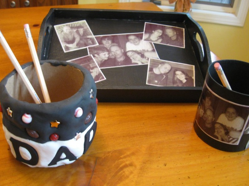 surprise dad with personal  practical gifts made by kids