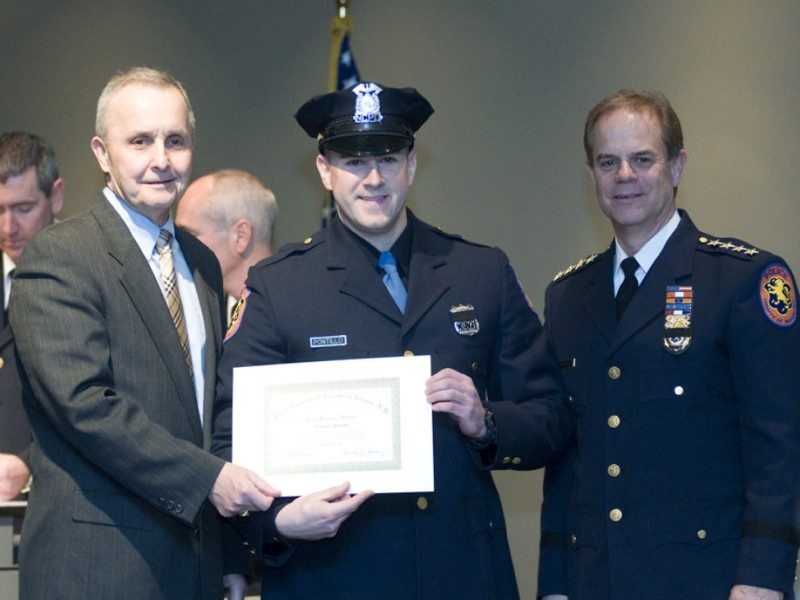 Melville Detective Honored At Nassau County Police -7788