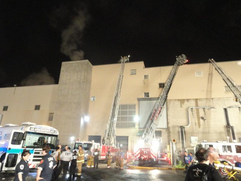 Area Firefighters Battle Flames At Elmwood Park Paper