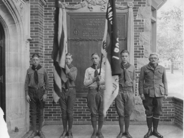 On the far right is Karl Asplund, Founder of Troop 1