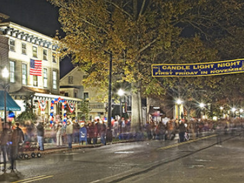 Candlelight Night Returns to Moorestown Main Street ... Ghetto Street Corner At Night