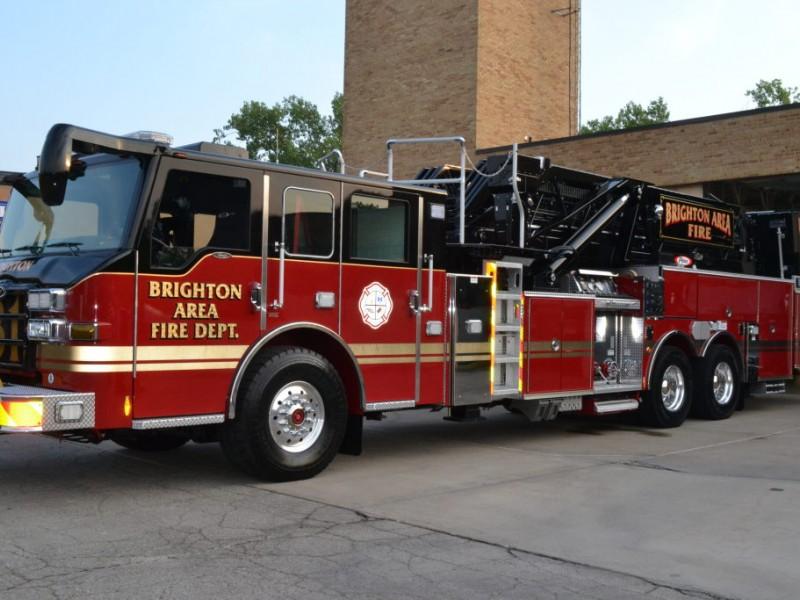 Brighton Area Fire Authority Welcomes Three New Trucks Brighton Mi Patch