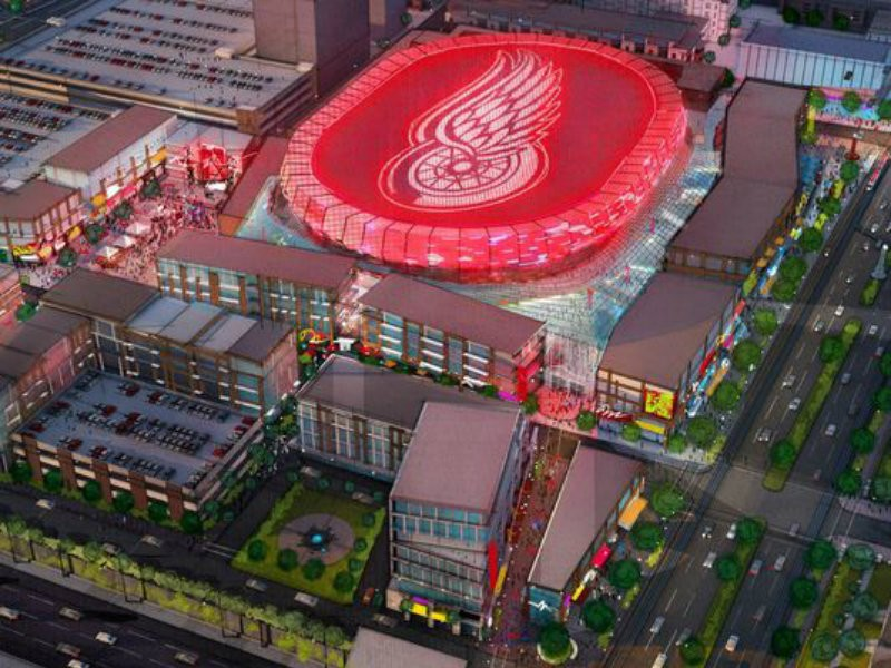 Red Wings Hockey Fans Burn Little Caesars Pizza Arena Name