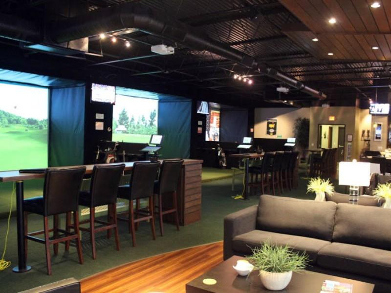 Indoor golf simulation club opens in carrollwood for Indoor golf design
