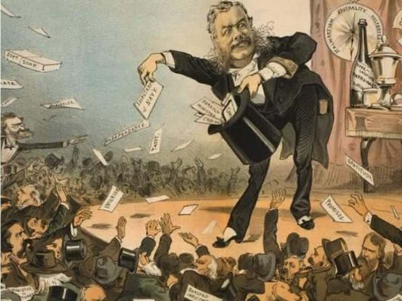 the spoils system in the us politics history In us history, the practice of giving appointive offices to loyal members of the party in power the name supposedly derived from a speech by senator william learned marcy in which he.