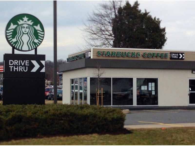 latte lovers you can get your coffee at drive through starbucks on richmond highway   arlington