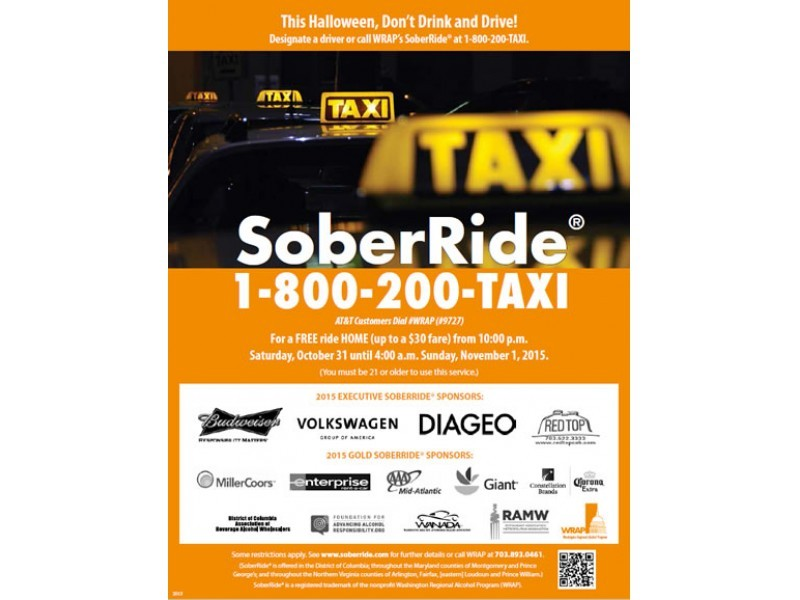 free halloween taxi rides to be offered to stop drunk driving - Halloween Northern Virginia