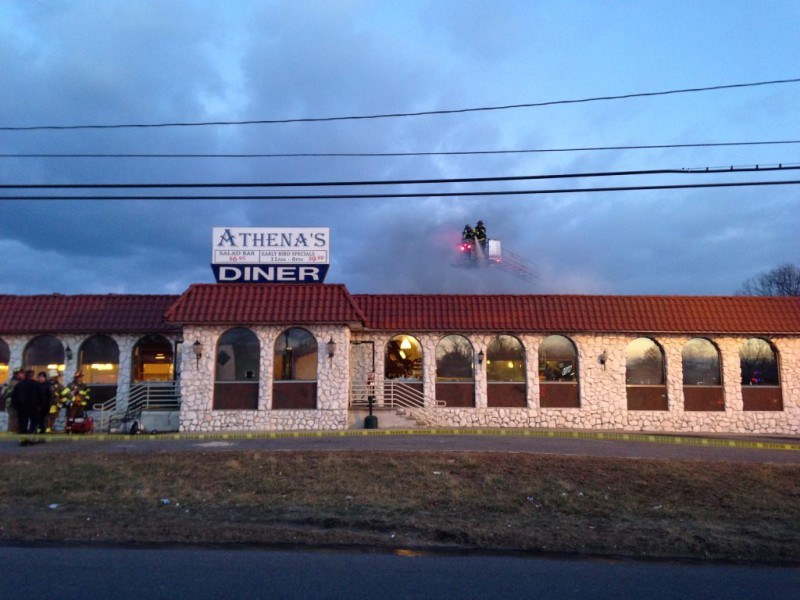 Update Roof Work Started Athena Diner Fire Howell Nj Patch
