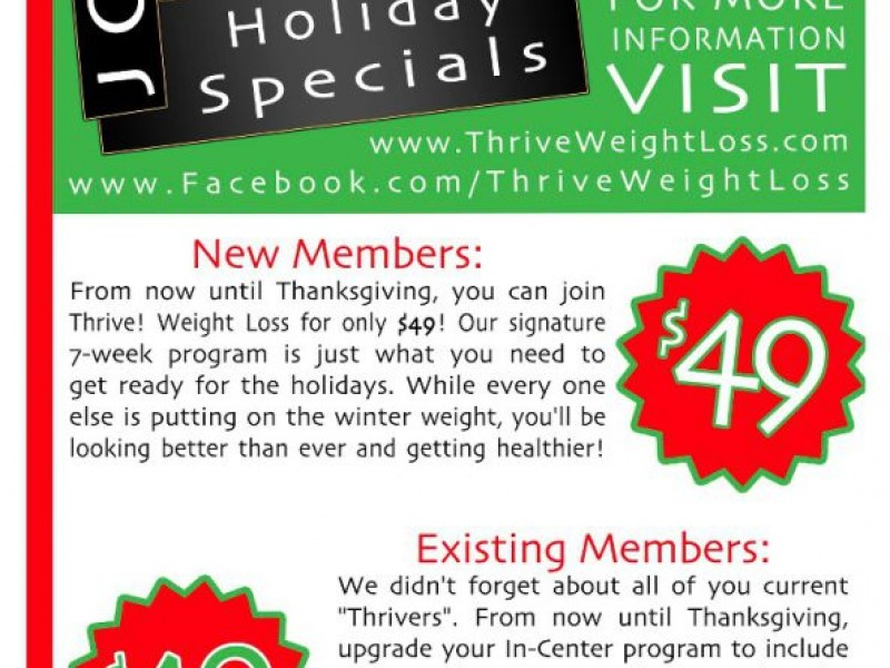 Thrive! Weight Loss - Level 1 Classes - Kennesaw, GA Patch